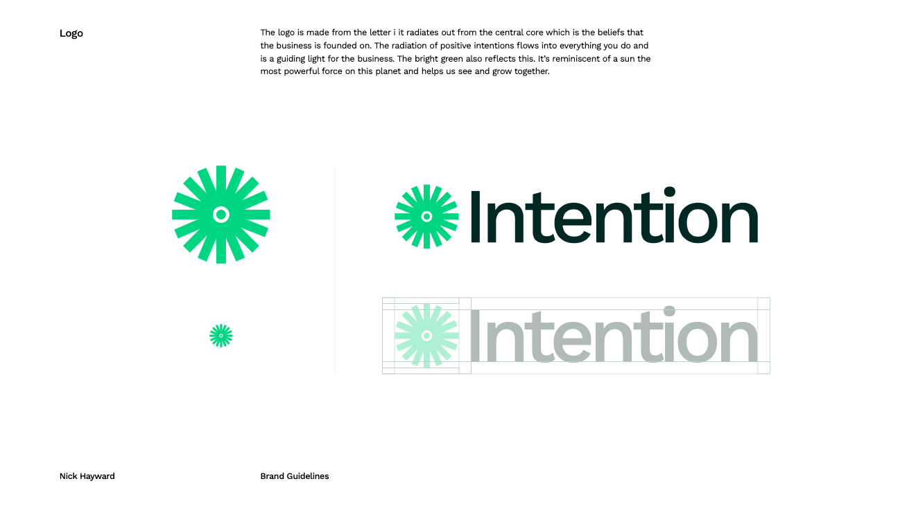 Brand guidelines for the new Intention brand